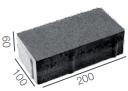 брусчатка без фаски 200x100x60