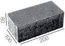 брусчатка без фаски 200x100x80